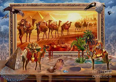 Camel Digital Art - Eygptian Scene by Jan Patrik Krasny