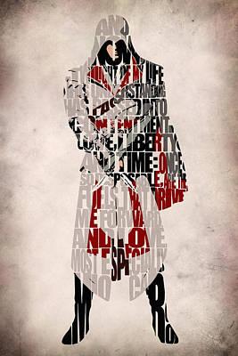 Ezio - Assassin's Creed Brotherhood Print by Ayse Deniz