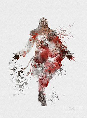 Gaming Mixed Media - Ezio  by Rebecca Jenkins