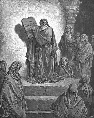 Bible Painting - Ezra Reading The Law In The Hearing Of The People by Celestial Images