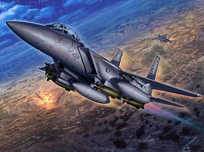 F-15e Strike Eagle Scud Busting Print by Stu Shepherd