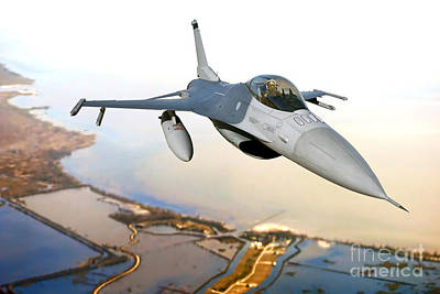 F-16 Photograph - F-16 Fighting Falcon by Olivier Le Queinec