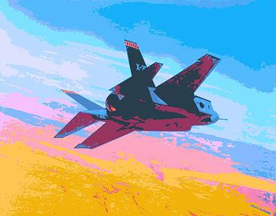 F 35 Strike Fighter Enhanced II Print by US Military - L Brown