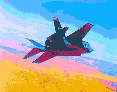 F 35 Strike Fighter Enhanced IIi Print by US Military - L Brown
