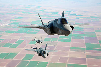 Lightning Photograph - F-35b Fighter Jets by Us Defense