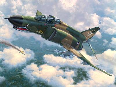 Vietnam Digital Art - F-4e Mig Killers by Stu Shepherd