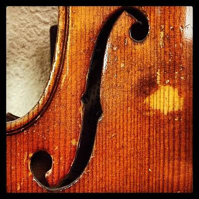 Music Photograph - F-hole by Ken Powers