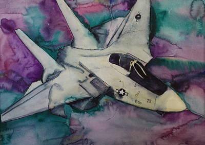 Cockpit Drawing - F14 by Gitta Brewster