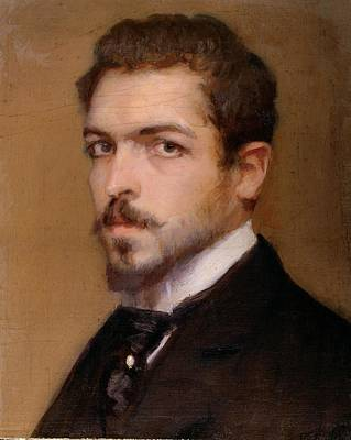Fabbri Paolo Egisto, Self-portrait Print by Everett