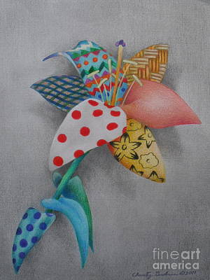 Fabric Lily Print by Charity Goodwin