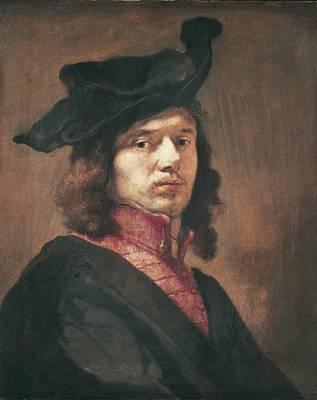 Self Portrait Photograph - Fabritius, Carel 1622-1654 by Everett
