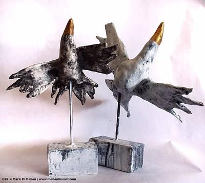 Freedom Mixed Media - Fabulas Free Birds by Mark M  Mellon