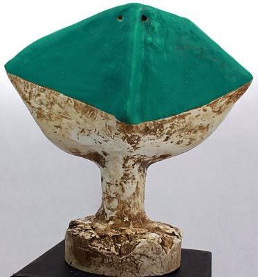 Outsider Sculpture - Fabulas Turquoise Humanum  by Mark M  Mellon