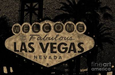 Fabulost Vegas Spelling Correct Print by John Malone
