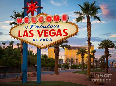 Fabulous Las Vegas Print by Inge Johnsson