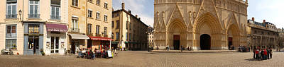 Rhone Alpes Photograph - Facade Of A Cathedral, St. Jean by Panoramic Images