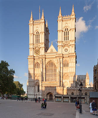 Westminster Abbey Photograph - Facade Of A Cathedral, Westminster by Panoramic Images