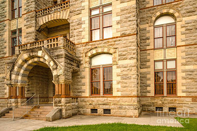 Zz Photograph - Facade Of Fayette County Courthouse - La Grange Texas by Silvio Ligutti