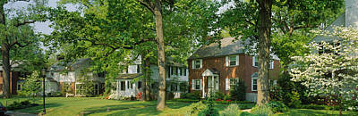 Maryland Photograph - Facade Of Houses, Broadmoor Ave by Panoramic Images