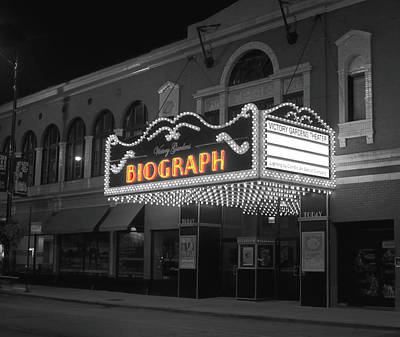 Facade Of The Biograph Theater, Lincoln Print by Panoramic Images