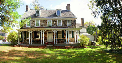 Bucks County Photograph - Facade Of The Parry Mansion Built by Panoramic Images