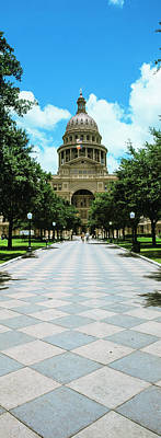Facade Of The Texas State Capitol Print by Panoramic Images