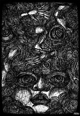 Face And Etc Print by Akiko Kobayashi