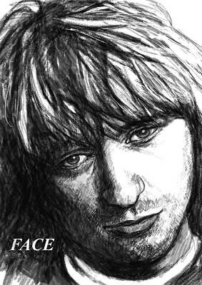 Pop Art Drawing - Face Art Drawing Sketch Portrait by Kim Wang