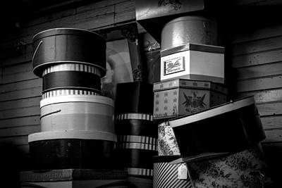 Decor Photograph - Face Behind The Hat Boxes by Bob Orsillo