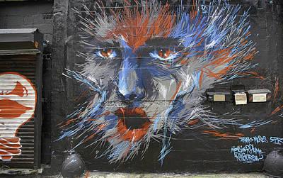 Face Graffiti 2014 Print by E Osmanoglu