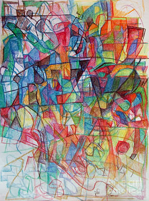 Creativity Drawing - Face Of Fortitude 1 by David Baruch Wolk