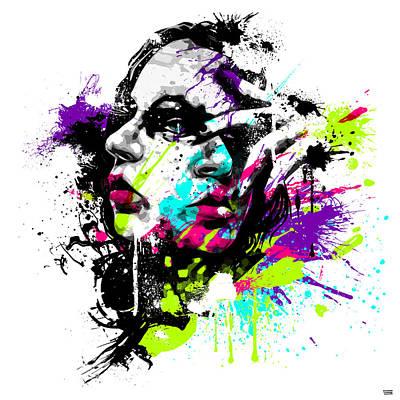 Woman Portrait Digital Art - Face Paint 1 by Jeremy Scott