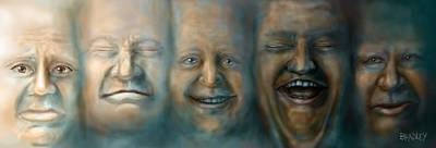 Pop Surrealism Photograph - Faces by Diane Bradley