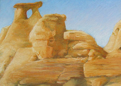 Natural Resources Painting - Faces In Stone 4 by Fran Hutton