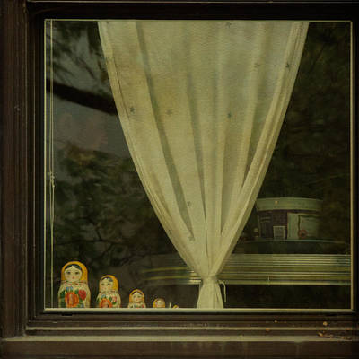 Matryoshka Photograph - Faces In The Window by Sally Banfill
