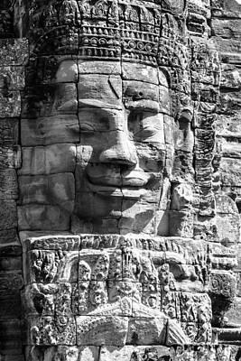 Asia Photograph - Faces Of Bayon Temple by Alexey Stiop