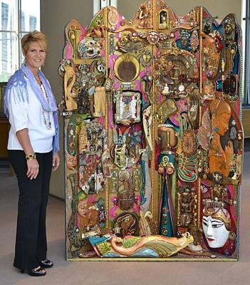 Huge Assemblage Sculpture - Faces Of Grace by Marie Howell Gallery