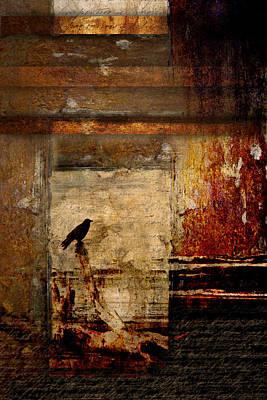 Corvid Digital Art - Facing Seaward by Carol Leigh