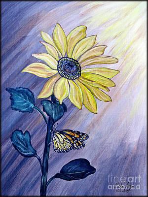 Facing The Sun Print by Ella Kaye Dickey