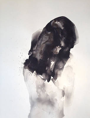 Sumi Painting - Fade Into You by Kristina Bros