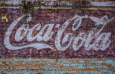 Weathered Coca Cola Sign Photograph - Faded Coca Cola Sign by Paul Freidlund