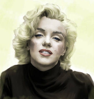 Marilyn Drawing - Faded Dream Marilyn Monroe by Iconic Images Art Gallery David Pucciarelli