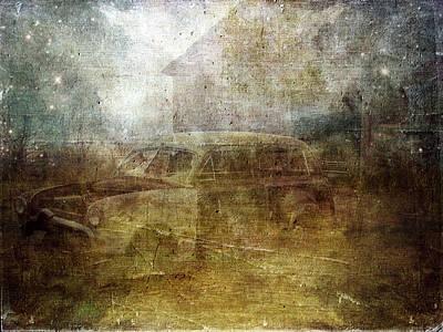 Barn Digital Art - Fading Away by Cassie Peters