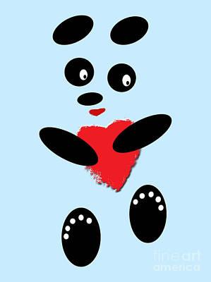 Panda Photograph - Fading Like A Flower. Panda In Love. 02 by Ausra Huntington nee Paulauskaite