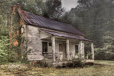 Old Country Roads Photograph - Fading Memories by Debra and Dave Vanderlaan