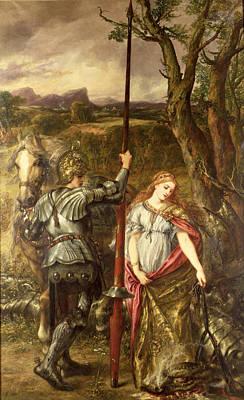 Fair St. George, 1881 Oil On Canvas Print by Sir John Gilbert
