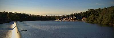 Boathouse Row Photograph - Fairmount Dam And Boathouse Row by Photographic Arts And Design Studio