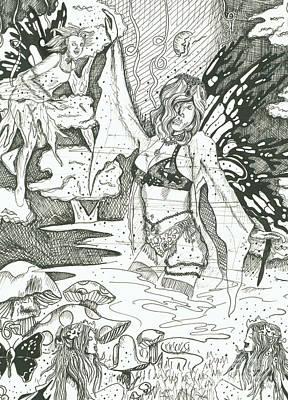 Fairy Dance 1 Print by Kryztina Spence