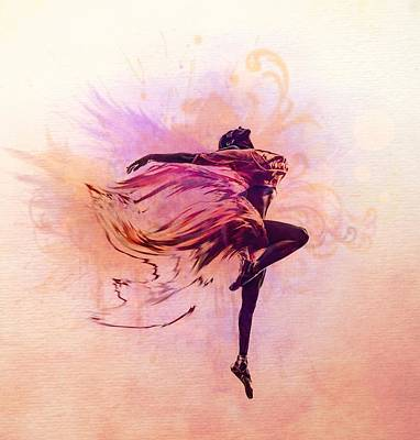 Fairy Dance Print by Lilia D