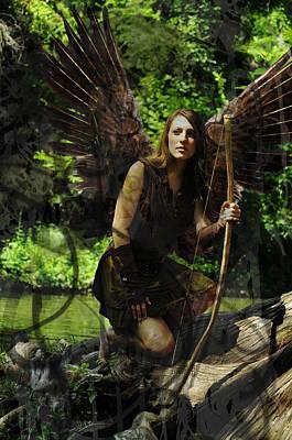 Fairy Photograph - Fairy Huntress by Cherie Haines